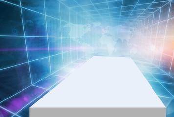 Futuristic High tech Digitial 3D Enclosed Studio Backdrop