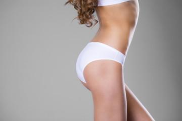 Body part white fitness underwear