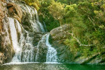 Sri Lanka: Baker's Falls in highland Horton Plains National Park