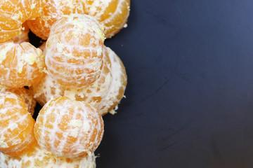mandarin fruit isolate black