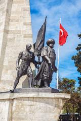 Istanbul Turkey. Statue of Barbarossa