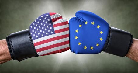 Boxkampf - USA gegen Europäische Union