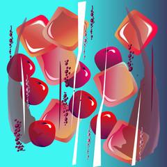fruit cherry juice food vector water white