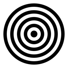 Target icon - Flat design, glyph style icon - Filled black