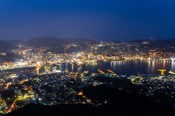 Nagasaki city in Japan