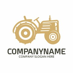 Tractor logo icon vector template