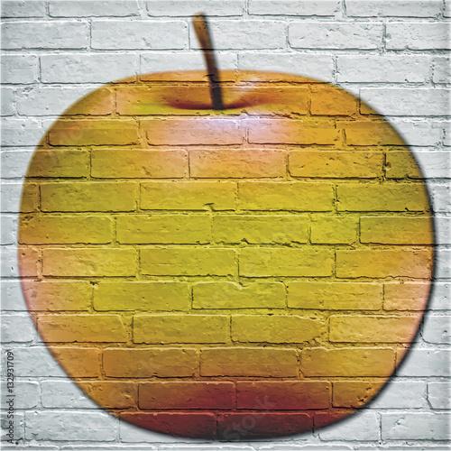 Street art dessin d 39 une pomme - Dessin d une pomme ...