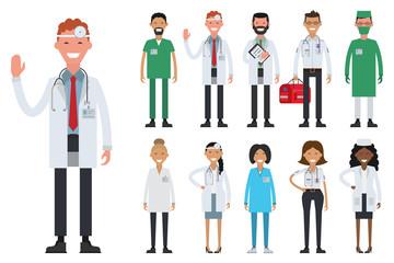 Hospital medical staff team doctors nurses surgeon