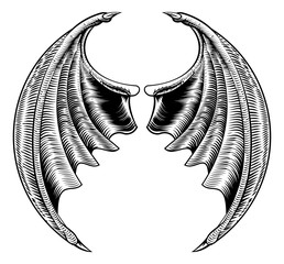 Bat or Dragon Wings Design
