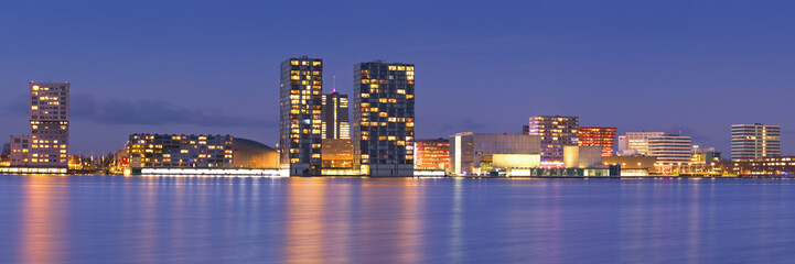Skyline of the city of Almere in The Netherlands