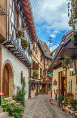Street in Eguisheim, Alsace, France