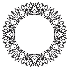 mandala black with place for text