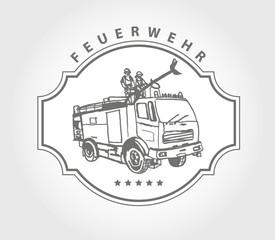 feuerwehr design logo