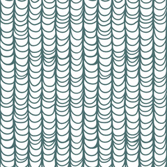 Seamless monochrome pattern with hand drawn stylized fish scales
