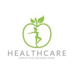 Healthcare logo. Health food logotype.