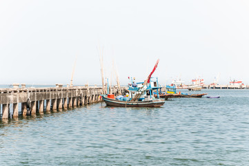 View of fishing port Thailand.