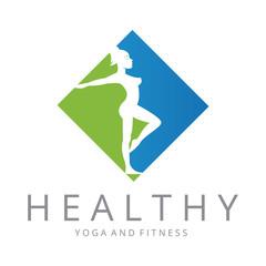 Healthy logo. Fitness logotype