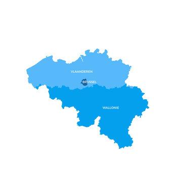 Belgium Regions Map