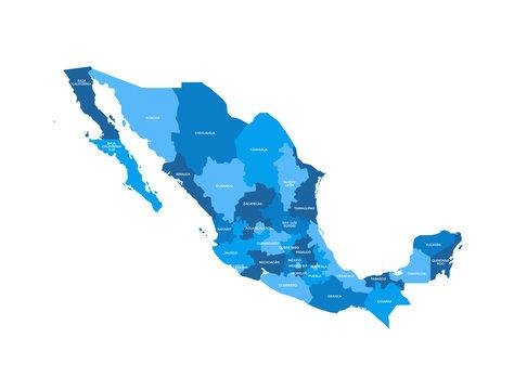 Mexico Regions Map