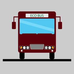 Bus vector icon. Public transport symbol