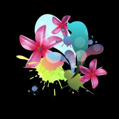 flower art illustration pattern bloom beauty green