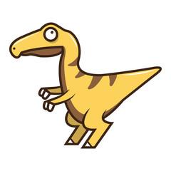 Cute Velociraptor Vector