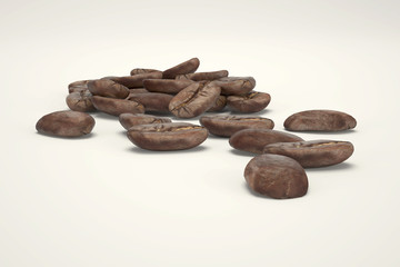3d Realistic coffee beans