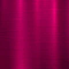 Wall Mural - Magenta metal abstract technology background with polished, brushed texture, chrome, silver, steel, aluminum for design concepts, wallpapers, web, prints, posters, interfaces. Vector illustration.