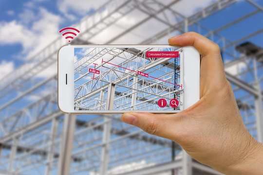 Application of Augmented Reality in Construction Industry Concept Measuring Dimension of Steel Structure