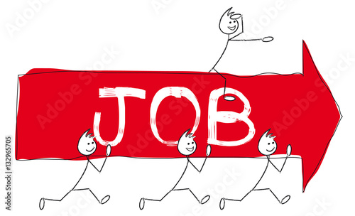 Personnages qui portent une fl che avec texte job for Portent jobs