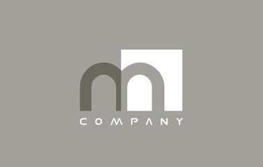 Alphabet small letter m logo icon design