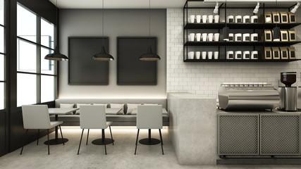 Restaurant & Shop design modern - 3D render
