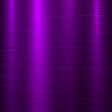 Violet metal abstract technology background with polished, brushed texture, chrome, silver, steel, aluminum for design concepts, wallpapers, web, prints, posters, interfaces. Vector illustration.