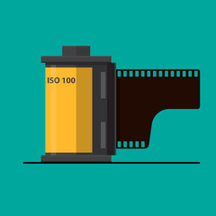 Camera film roll icon