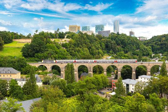 Train bridge in Luxembourg