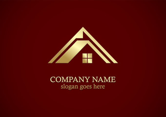 roof house gold company logo