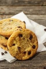 Gluten free Chickpea flour cookies/ Chocolate chip cookies, selective focus