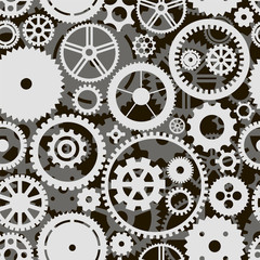 Vector background with white and gray gears