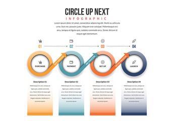 Circle Chain Infographic 9