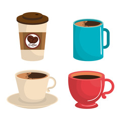delicious coffee drink icon vector illustration design