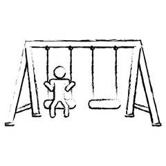 swing playground icon image vector illustration design