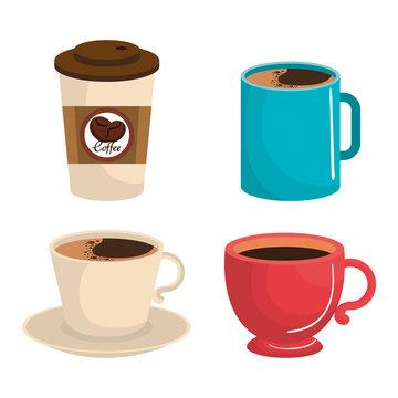 delicious coffee drink icon vector illustration design
