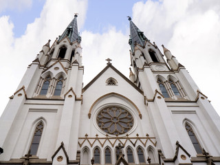 The Anglican Cathedral in the beautiful city of Savannah in Georgia the the USA