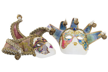 Two Venetian theatrical mask