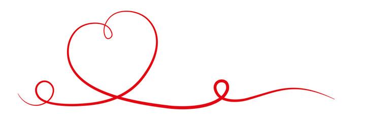 Herz Band Zeichnung