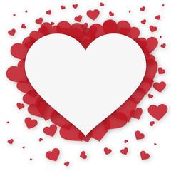 Herz Grußkarte - Herzform