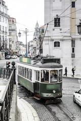 alte Strassenbahn in Lissabon, Portugal