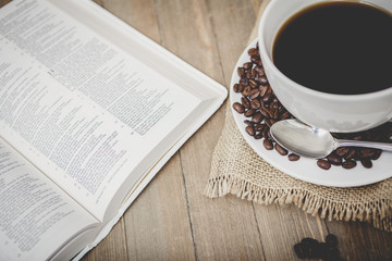 Bible Study Coffee Background