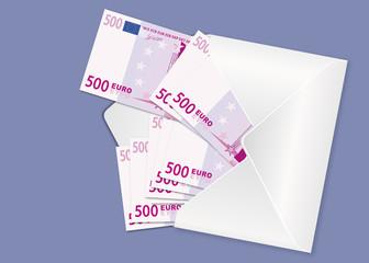 Corruption - Enveloppe - Billets de banque