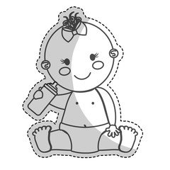 happy baby girl  icon image vector illustration design